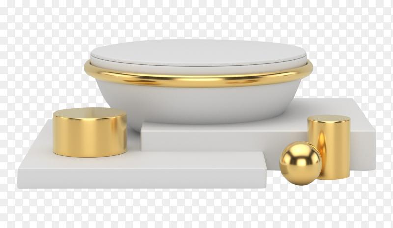 3D podium for product presentation on transparent background PNG