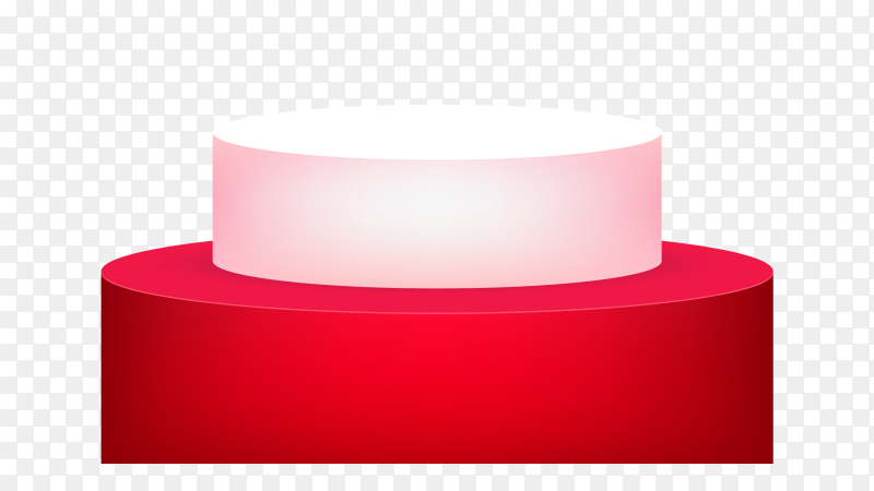 3D podium red on transparent background PNG