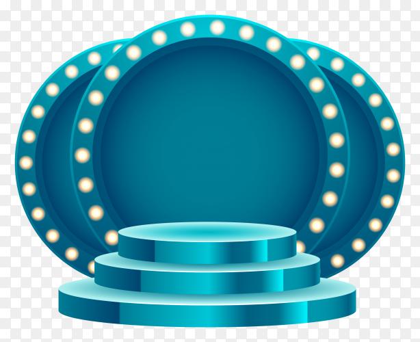 3D podium with spotlight – stage illustration transparent PNG