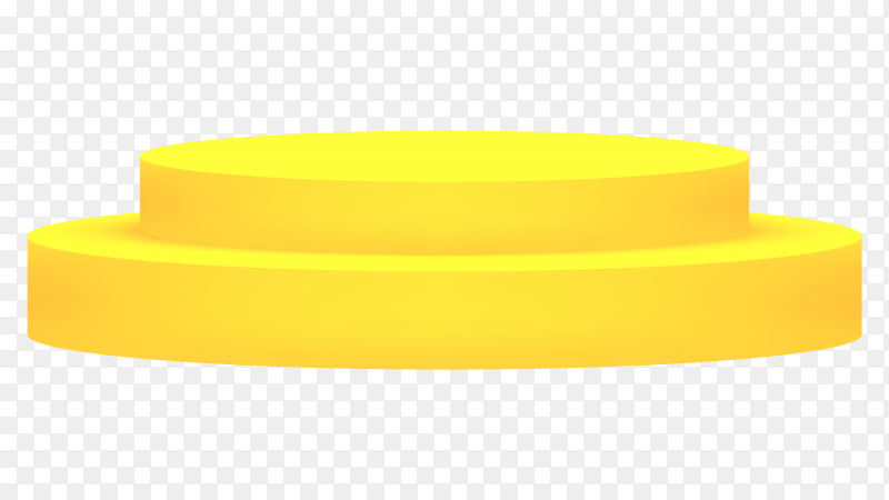 3D podium yellow on transparent background PNG