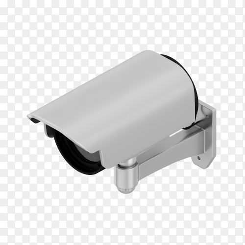 3D render premium security camera royalty free PNG