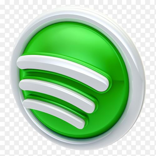 3D spotify logo free download PNG