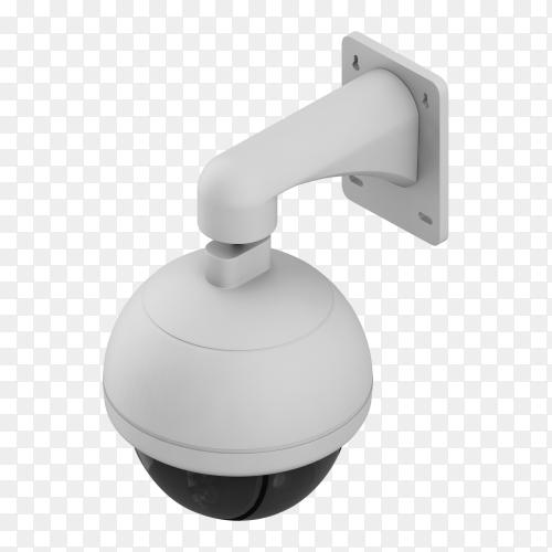 3d render security camera transparent PNG