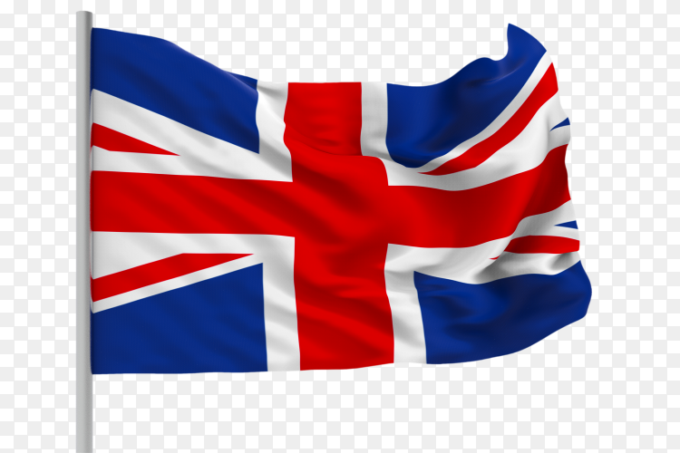 3d rendering – Britain flag – United kingdom flag transparent PNG