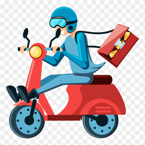 A man delivery mail and emails clipart PNG