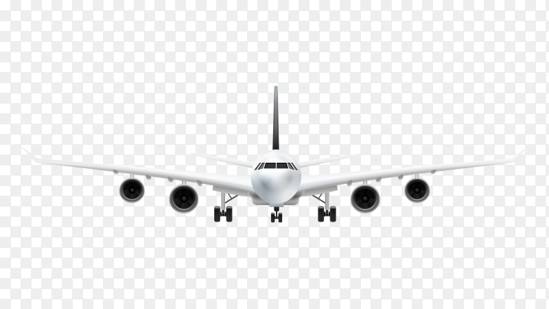 Airplane vector illustration free download PNG