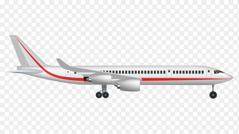 Airplane vector illustration transparent PNG