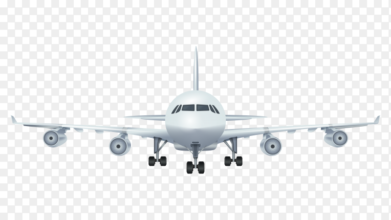 Airplane vector royalty free PNG