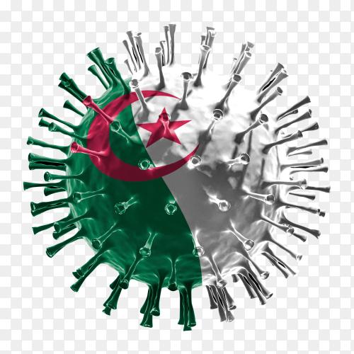 Algeria flag Shaped covid-19 virus transparent PNG