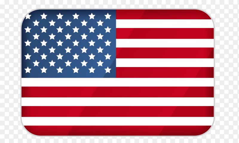 American flag icon vector PNG