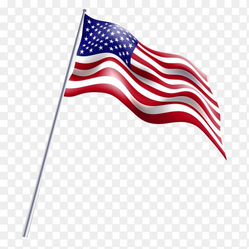 American flag premium royalty free PNG