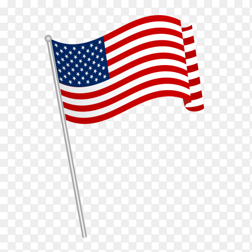 American flag vector PNG