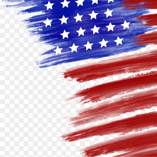 American flag watercolor vector PNG