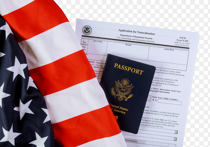 Applying form, passport and United states of america flag transparent PNG