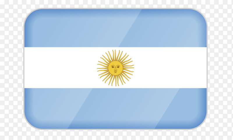 Argentina flag icon on transparent background PNG