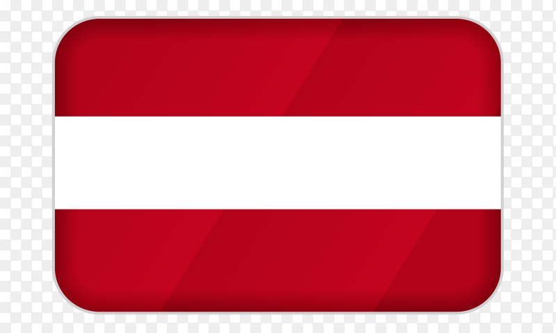 Austria flag icon on transparent background PNG