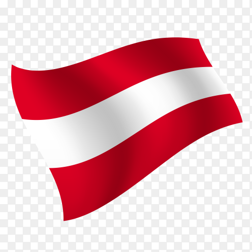 Austria flag waving vector on transparent background PNG