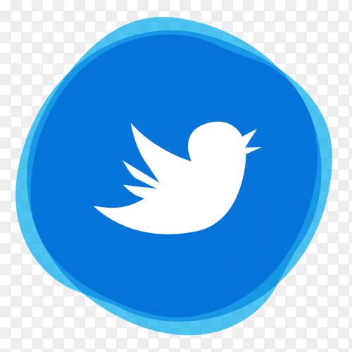 Beautiful Twitter logo transparent PNG
