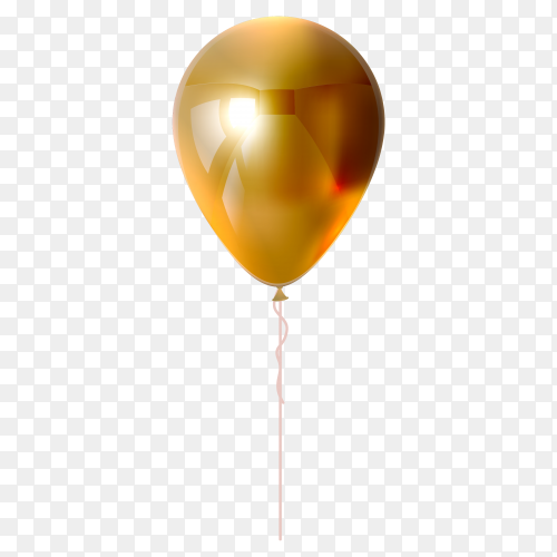 Beige balloon on transparent background PNG