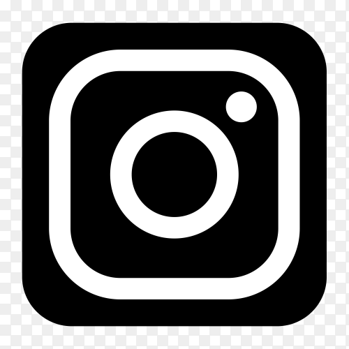 Black icon Instagram logo transparent PNG