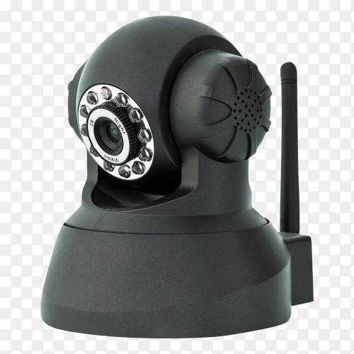 Black web camera – security camera royalty free PNG