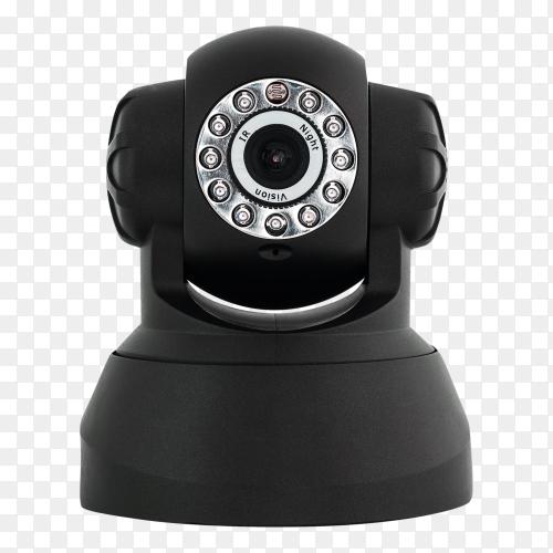 Black web camera – security camera transparent PNG