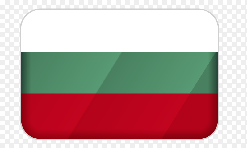 Bulgaria flag icon on transparent background PNG