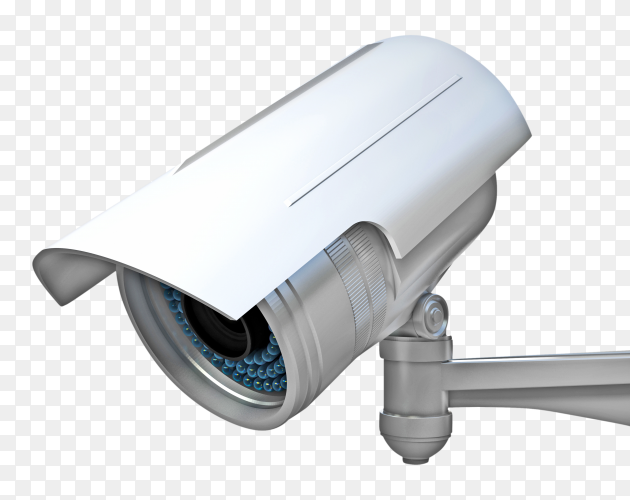 CCTV white security camera – security system transparent PNG