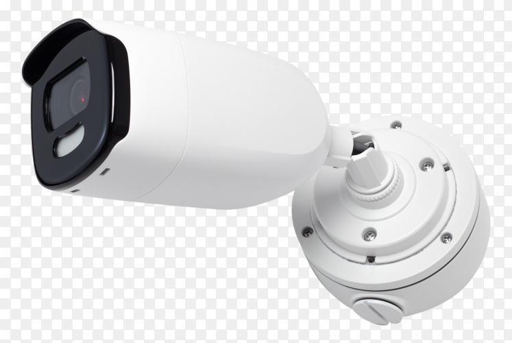 CCTV white security camera royalty free PNG