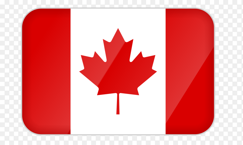 Canada flag icon on transparent background PNG