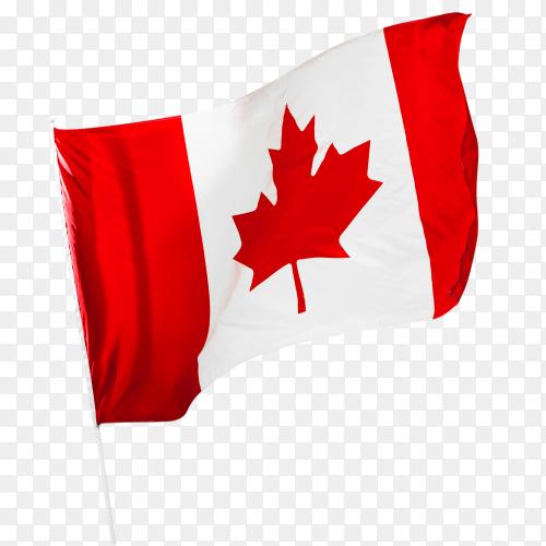 Canadian flag – Canada flag waving on transparent background PNG