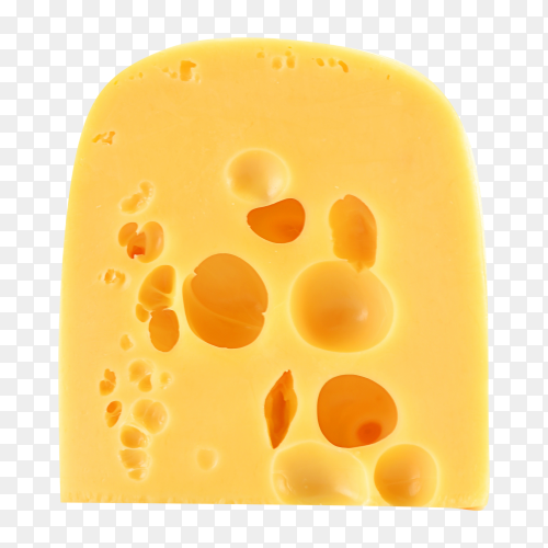 Cheese with large holes transparent PNG