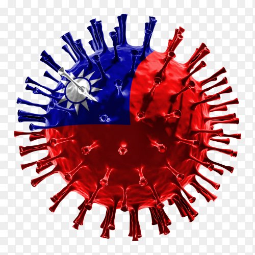 China flag Shaped covid-19 virus transparent PNG