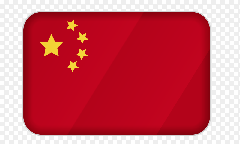 China flag icon on transparent background PNG
