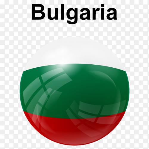 Circle glossy flag Bulgaria transparent PNG