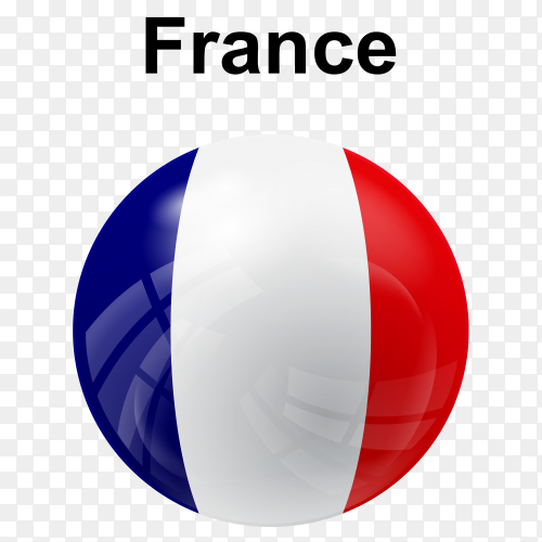 Circle glossy flag France transparent PNG