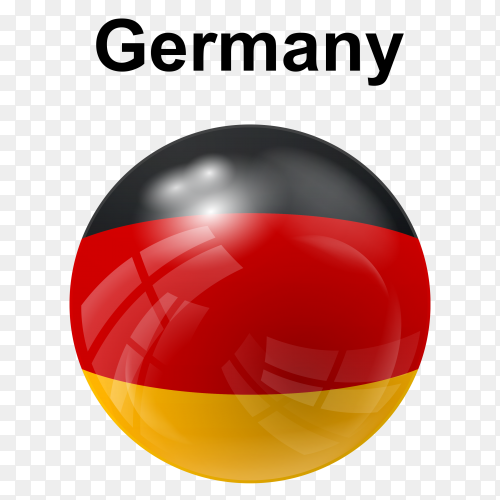 Circle glossy flag Germany transparent PNG