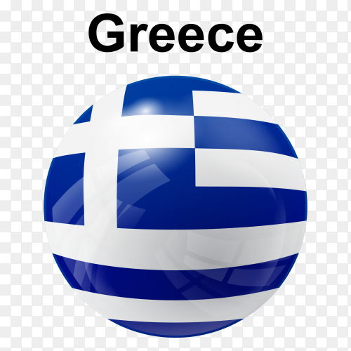 Circle glossy flag Greece transparent PNG