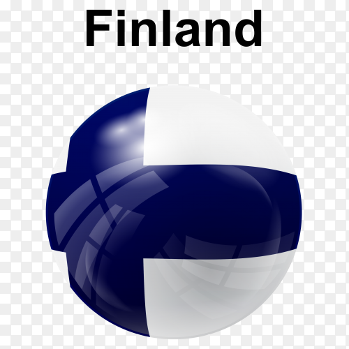Circle glossy flag finland transparent PNG