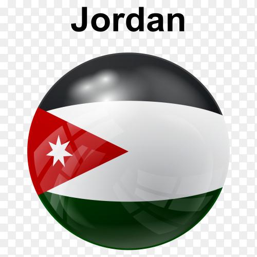 Circle glossy flag jordan transparent PNG