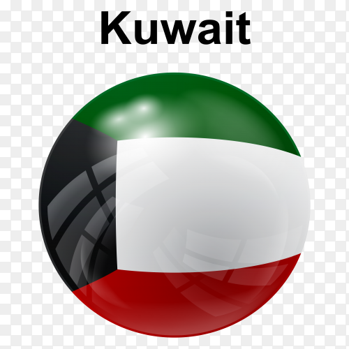 Circle glossy flag kuwait transparent PNG