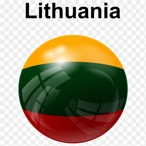 Circle glossy flag lithuania transparent PNG