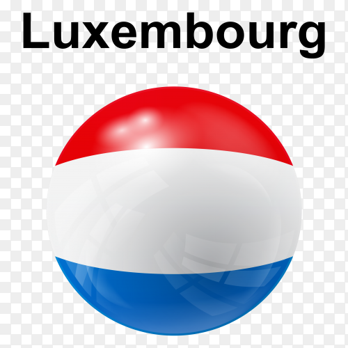 Circle glossy flag luxembourg transparent PNG