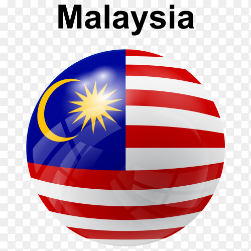 Circle glossy flag malaysia transparent PNG