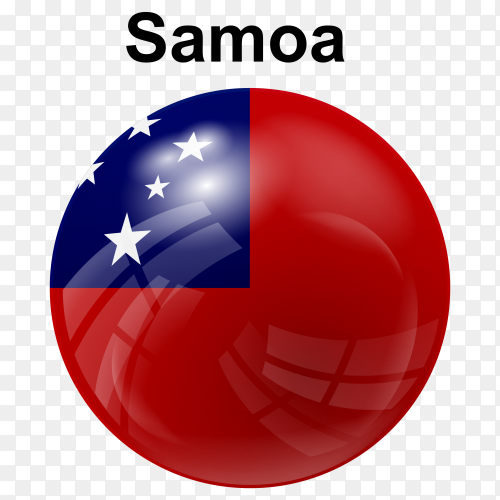 Circle glossy flag of Samoa transparent PNG