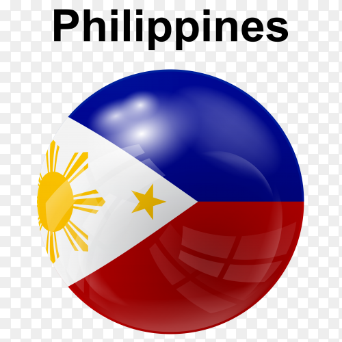 Circle glossy flag philippines transparent PNG