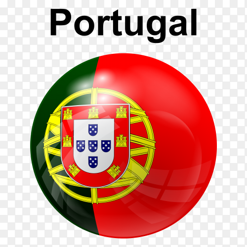 Circle glossy flag portugal transparent PNG