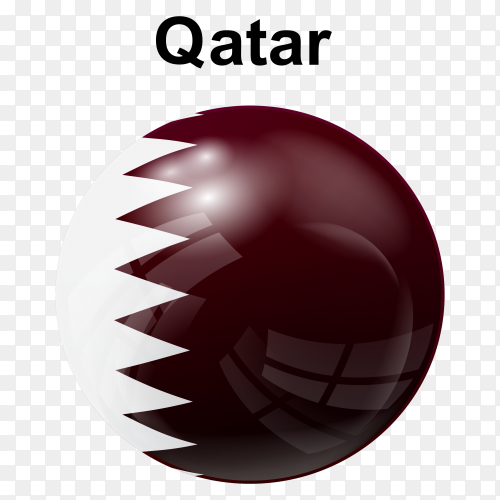 Circle glossy flag qatar transparent PNG