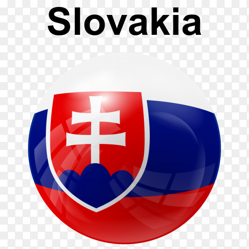 Circle glossy flag slovakia transparent PNG