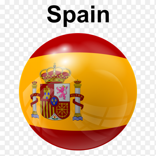 Circle glossy flag spain transparent PNG
